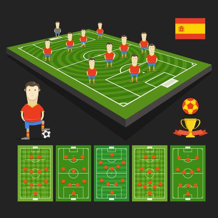 crossbars: Spain soccer team Illustration