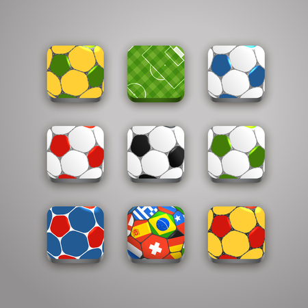 crossbars: Soccer icons collection
