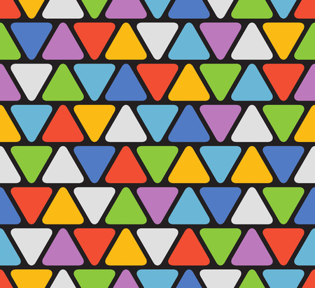 lay out: Abstract seamless pattern with color triangles