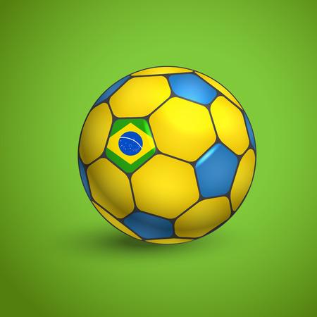 crossbars: Brazil World football ball