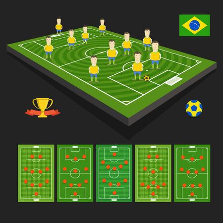 crossbars: Brazil soccer team