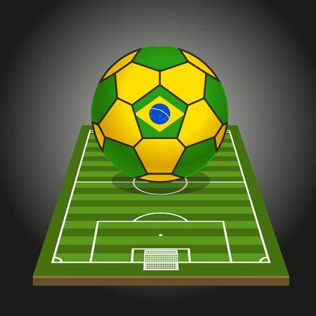 crossbars: World soccer championship illustration Illustration