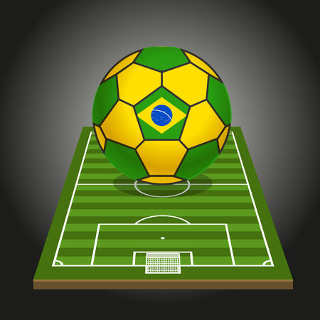 substitution: World soccer championship illustration Illustration