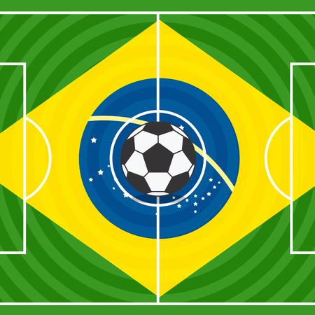 crossbars: World soccer championship in Brazil illustration Illustration