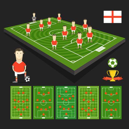 crossbars: England soccer team Illustration