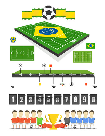 crossbars: Brazil Soccer match infographic elements