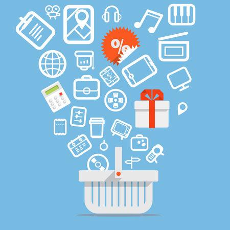 Modern digital shop concept Illustration