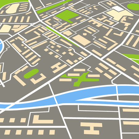 city map: Abstract city map illustration