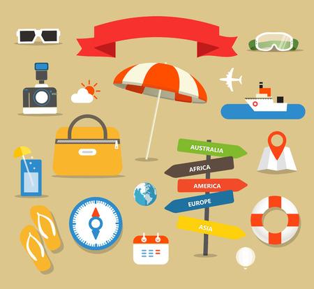 Summer seaside vacation illustration Vector