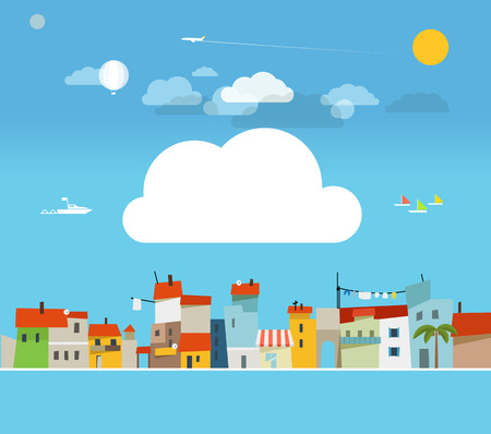 Vacation travelling concept  Flat design illustration
