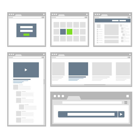 web site page templates collection Illustration