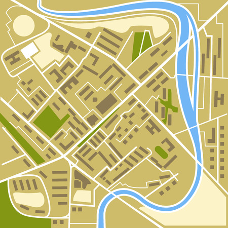 uptown: Abstract city map illustration