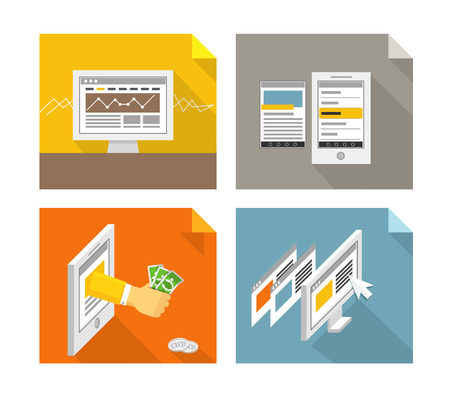 Modern gadgets and web page templates collection. Design elements Vector
