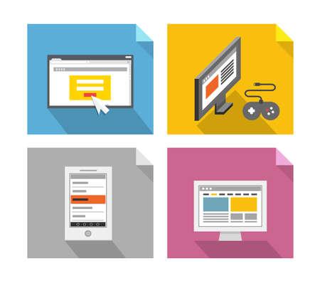 Modern technology concepts. Design elements Vector