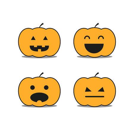 helloween: Different helloween pumpkin icons clip-art