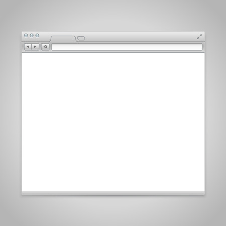 Opened browser window template. Past your content into it Vector