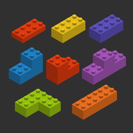 ladrillo: Bloques constructores de color Vectores