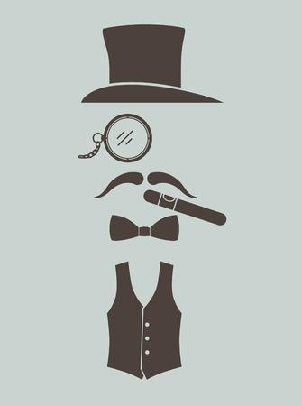 mens: Gentlemens vintage stuff Illustration