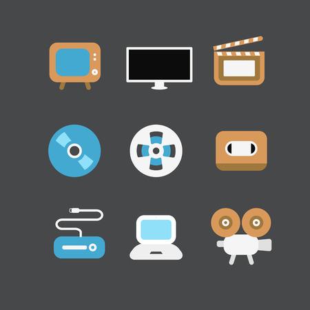 multimedia pictogram: Vector icons Illustration