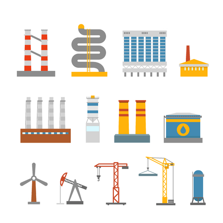 house clip art: Modern factory buildings collection