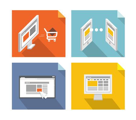 web browser: Modern technology concepts. Design elements Illustration