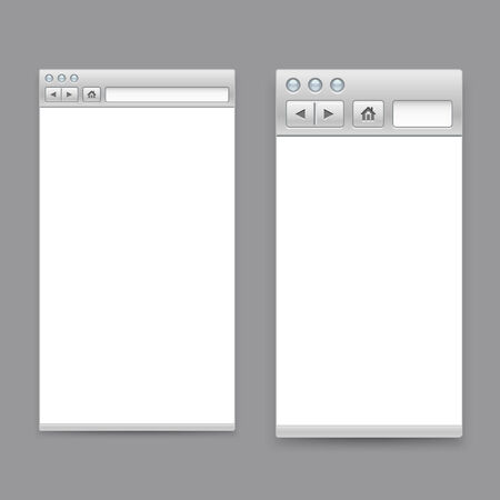 Opened browser windows template.  Vector