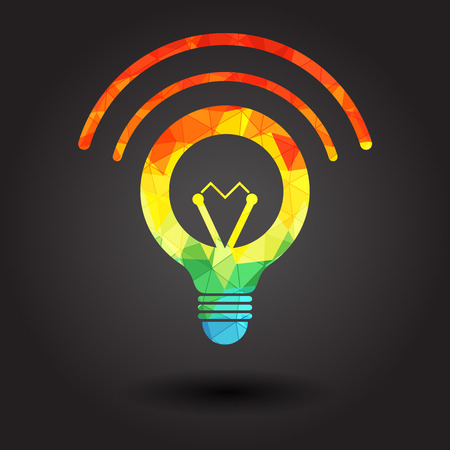 socle: Abstract light bulb illustration