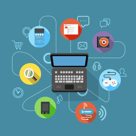 output: Different modern digital device scheme