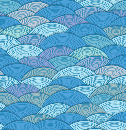 Abstract seamless background of waves Vector