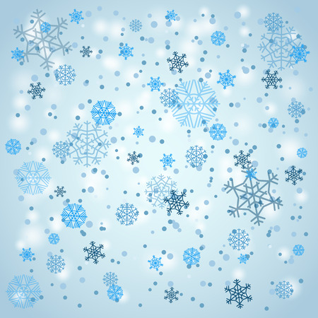 holyday: Snowfall in winter. Abstract background
