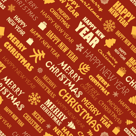 Christmas season elements seamless background. Greeting card elements Vector