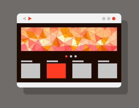 internet browser: Modern internet browser window with abstract banner