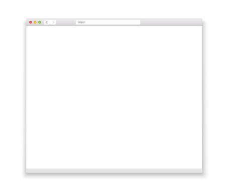 開いているブラウザー ウィンドウのテンプレート。過去のそれあなたのコンテンツ 写真素材 - 36671489
