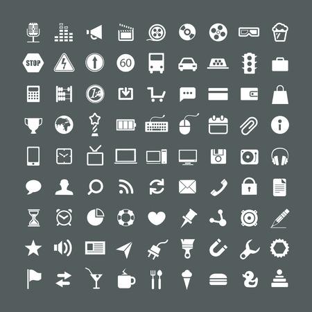 web application: Raccolta di icone di applicazioni Web