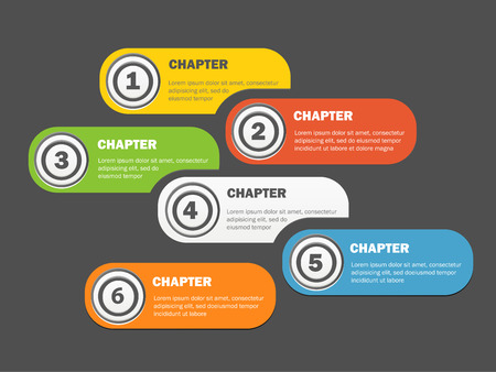 chapter: Infographics banners design with icons