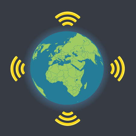 wireless connection: Global wireless connection illustration Illustration