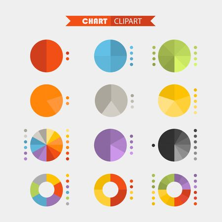 ratings: Graphic business ratings and charts .Flat infographic elements clipart Illustration