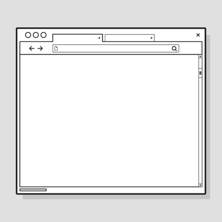 Opened browser window template. Past your content into it. web site page template Illustration