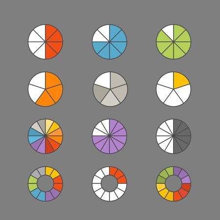 parameter: Graphic business ratings and charts. Flat infographic elements Illustration