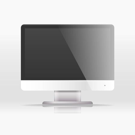 lcd monitor: Modern lcd monitor with icon interface