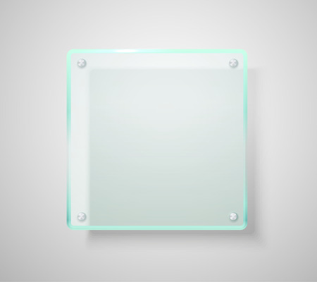 Advertising glass board. Place your text Vector