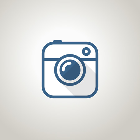 foto: Vintage photo camera icon. Minimalism illustration concept Illustration