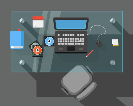working place: Working place of an office manager