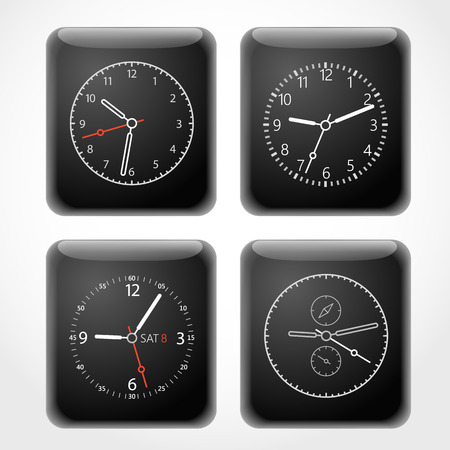 dials: Modern digital watch dials template Illustration