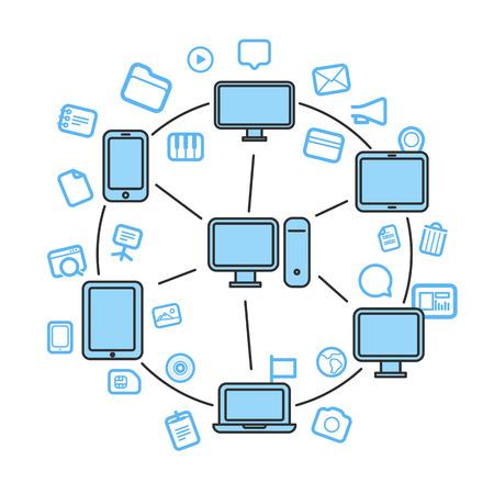 gadgets: Wireless information fransfer across modern gadgets