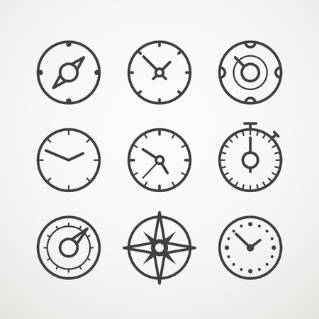 Different slyles of speedometers vector collection Ilustração