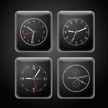 photoreal: Modern digital watch dials template Illustration