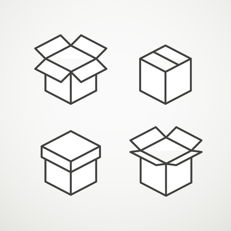 transportaion: Different vector boxes collection