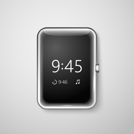 Modern digital watches template. Place your content into the screen Illustration