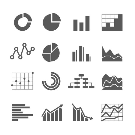 column chart: Different graphic business ratings and charts. infographic elements